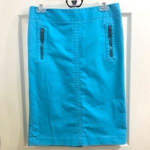 Bright Blue Rafaella Pencil Skirt